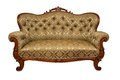 Sofa isolated antique rococo style on white Stock Image
