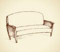 Sofa. Vector drawing