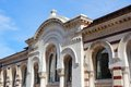 Sofia bulgaria famous market hall building old landmark Royalty Free Stock Photo