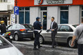 Sofia bulgaria june police stop offending on june in Royalty Free Stock Images
