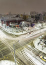Sofia winter snowy boulevards sityscape. Royalty Free Stock Photo