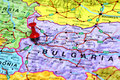 Sofiya pinned on a map of europe Royalty Free Stock Photo