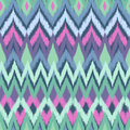 Soft aqua aztec print fashionable zigzag seamless vector background Royalty Free Stock Photo