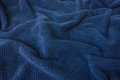 Soft blue towel fabric looking like waves Royalty Free Stock Photo