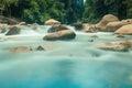 Soft blue waterfall Royalty Free Stock Photo