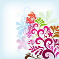 Soft classic floral background
