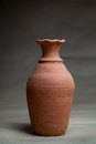 Soft clay pot :vase Royalty Free Stock Photo