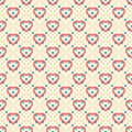 Soft color abstract pattern with hearts circles squares hexagons and lines