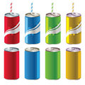 Soft Drink Cans Royalty Free Stock Images