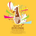Soft drink vector illustration eps Royalty Free Stock Photo