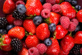 Soft fruits on plate Royalty Free Stock Photo