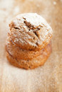 Soft ginger cookies three stacked and dusted Royalty Free Stock Images