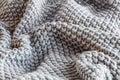 Soft Knift Grey Throw Blanket Royalty Free Stock Photo