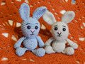 stock image of  Soft knitted toys for small children and adults