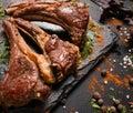 Soft rack of lamb gourmet dish Royalty Free Stock Photo