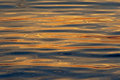 Rippling water with sunset colours reflecting background Royalty Free Stock Photo