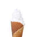 Soft serve ice cream isolated on white background Royalty Free Stock Photos