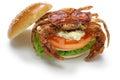 Soft shell crab sandwich spider Stock Photo