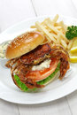 Soft shell crab sandwich spider Stock Images