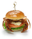 Soft shell crab sandwich spider Royalty Free Stock Photo