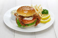 Soft shell crab sandwich spider Royalty Free Stock Image