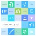Soft skills icons set Royalty Free Stock Photo