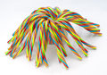 Soft sticks tangle licorice colored Royalty Free Stock Photography