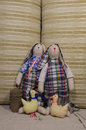 Soft toys rabbits toy tilde handsmade for decoration for garden and home Stock Photos