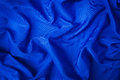 Soft velvet piece of blue fabric Royalty Free Stock Photo