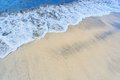 Soft wave sea sandy beach Stock Images