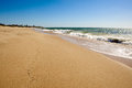 Soft wave of the sea on sandy beach Royalty Free Stock Photo