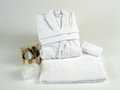 Soft white bathrobe Stock Photography