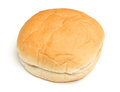 Soft white bread roll isolated on white background Stock Photography