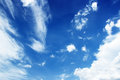 Soft white clouds against blue sky Royalty Free Stock Photo