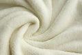 Soft White Plush Blanket Background Royalty Free Stock Photo