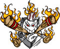 Softball Baseball Plate Flaming Cartoon Logo Royalty Free Stock Photography