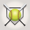 Softball, Bat, And Homeplate E...