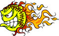 Softball Fastpitch Ball Flaming Face Vector Image Royalty Free Stock Photos