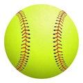 Softball isolated on white. Vector illustration. Royalty Free Stock Photo
