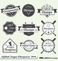 Softball League Champion and All Star Labels Stock Images