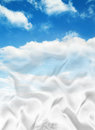 Softness clouds and white satin merging Stock Photos