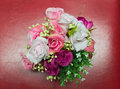 Softness of fabric roses bouquet in Royalty Free Stock Image