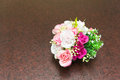 Softness of fabric roses bouquet in Stock Photos