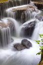 Softness of the waterfall long exposure shot soft flowing Royalty Free Stock Photo
