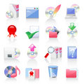 Software and application icons Royalty Free Stock Image