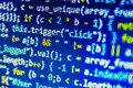 Software code or script - abstract background with numbers Royalty Free Stock Photo