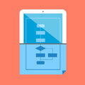 Software development evolution paper and tablet. Royalty Free Stock Photo