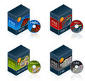 Software Icons Set 57 e Royalty Free Stock Image