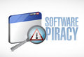 Software privacy web sign illustration design over a white background Royalty Free Stock Photos