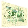 Software tags tag clouds vector artwork Stock Image